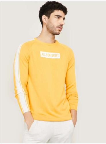KAPPA Men Printed Full Sleeves T-shirt -