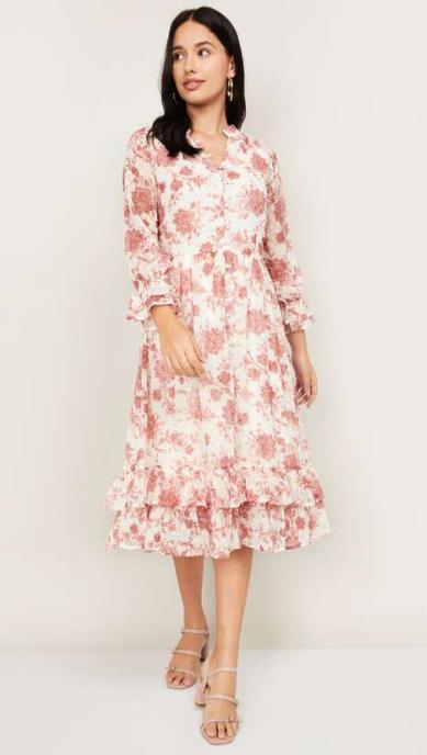LATIN QUARTERS Women Printed Midi Dress