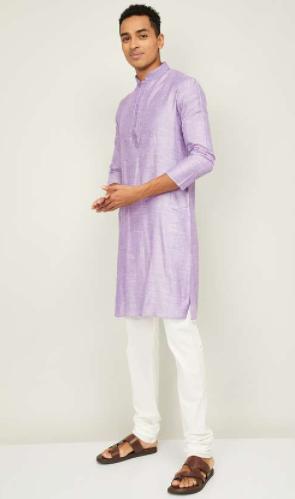 Melange Men Embroided Kurta with Pyjamas - Modern Diwali Outfits