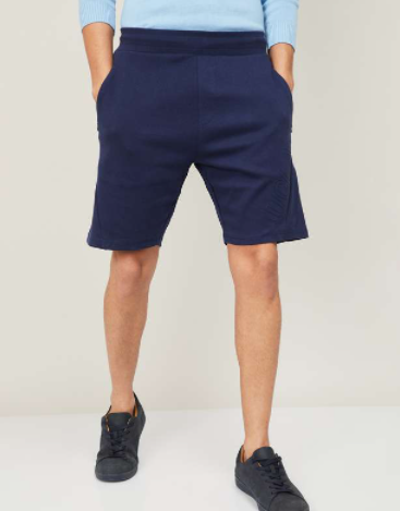 UCLA Men Solid Elasticated Casual Shorts