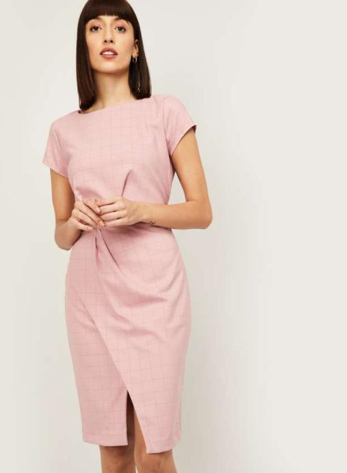 VAN HEUSEN Women Checked Sheath Dress - lifestyle dresses