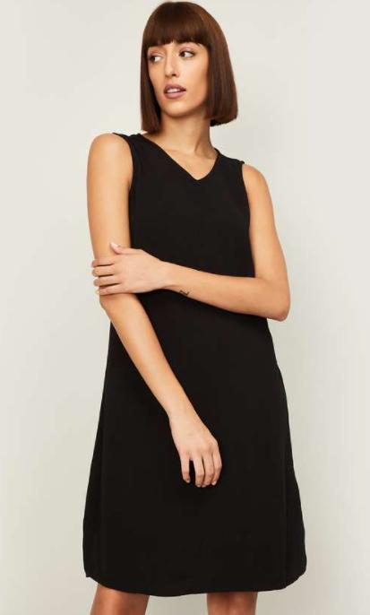 VERO MODA Women Solid A-line Dress - lifestyle dresses