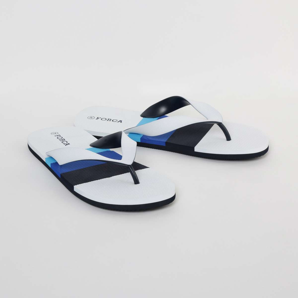 1.FORCA Colourblocked V-strap Slippers
