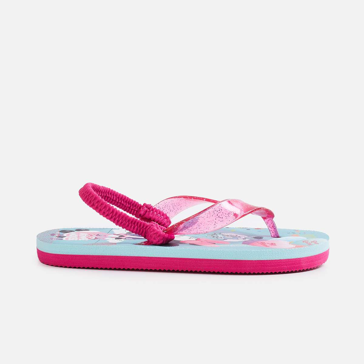 2.FAME FOREVER Girls Printed Sling Back Slippers