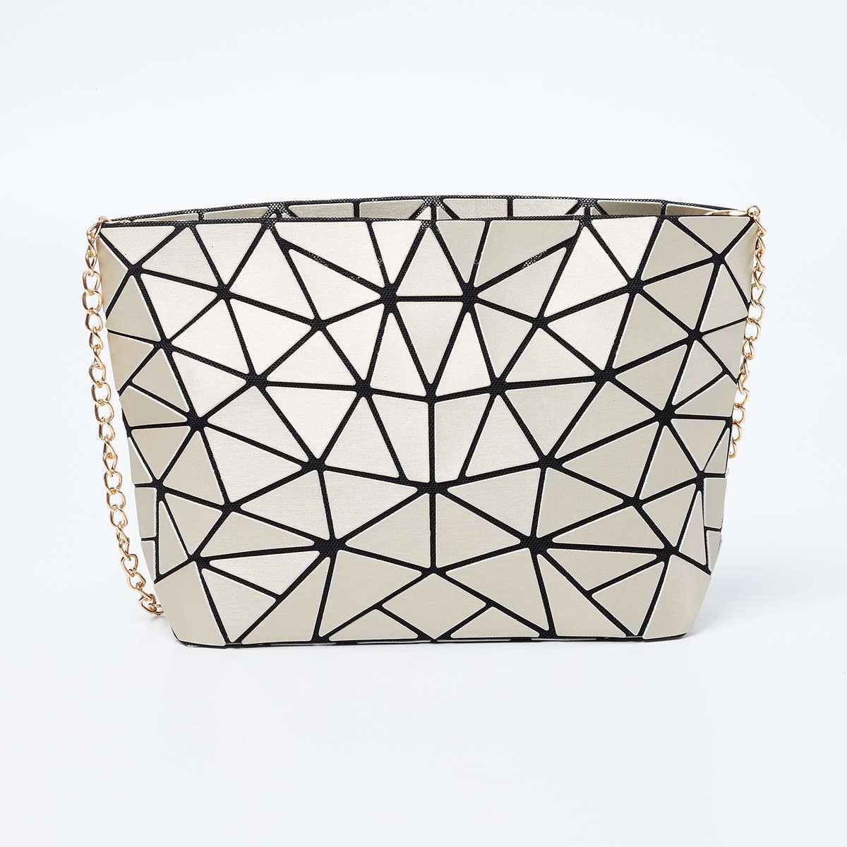 4.GINGER Geometric Pattern Sling Bag