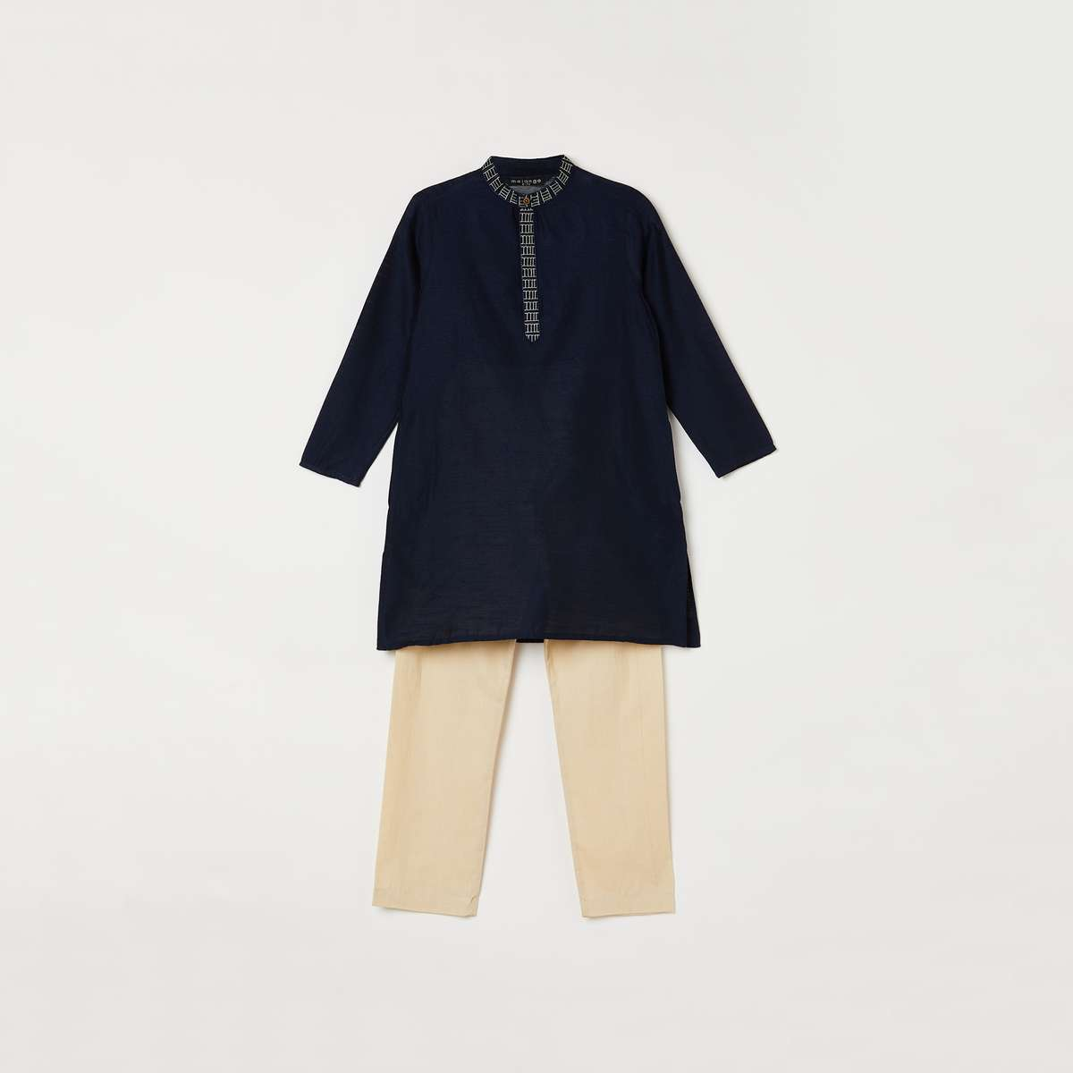 6.MELANGE Boys Solid Kurta with Solid Pyjama