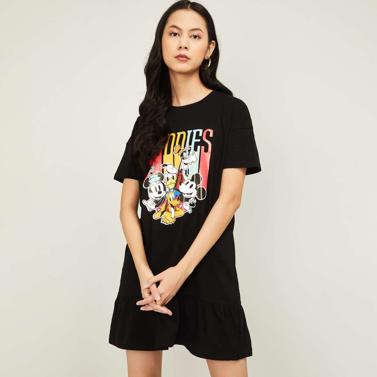 7.GINGER Women Graphic Print Short Sleeves T-shirt Dress